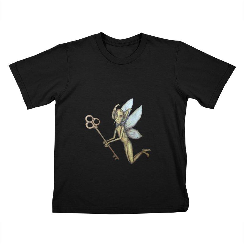Key-Turn Fairy Kids T-Shirt by Thistleroot's Artist Shop