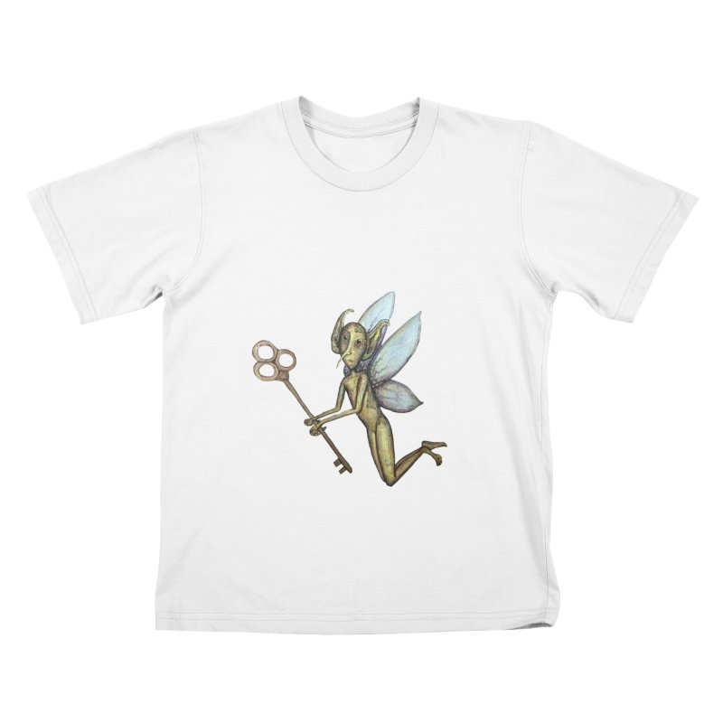 Key-Turn Fairy Kids T-Shirt by Thistleroot's Artist Shop