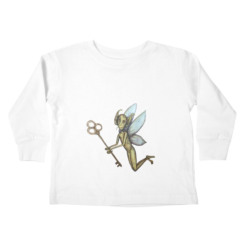 Key-Turn Fairy Kids Toddler Longsleeve T-Shirt by Thistleroot's Artist Shop