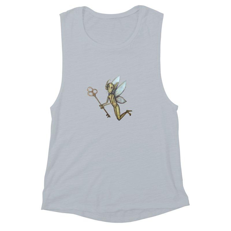 Key-Turn Fairy Women's Muscle Tank by Thistleroot's Artist Shop