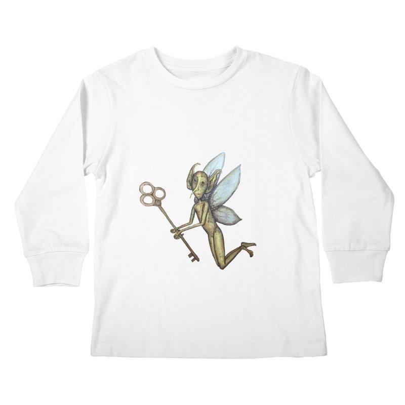 Key-Turn Fairy Kids Longsleeve T-Shirt by Thistleroot's Artist Shop