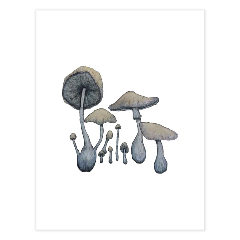 Mushrooms Home Fine Art Print by Thistleroot's Artist Shop