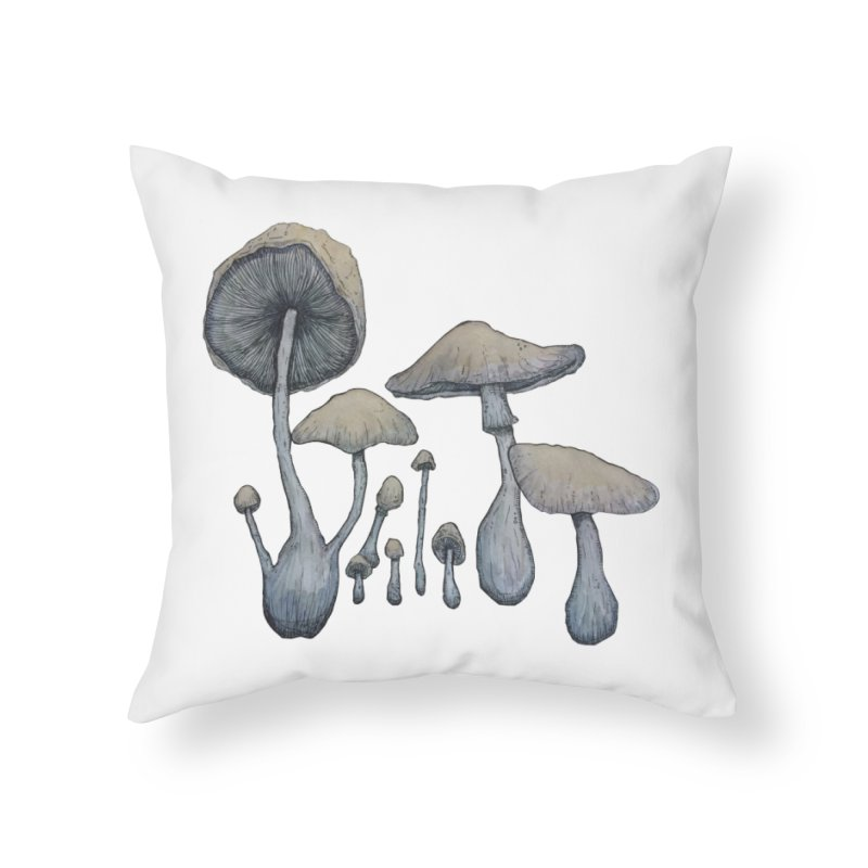Mushrooms Home Throw Pillow by Thistleroot's Artist Shop