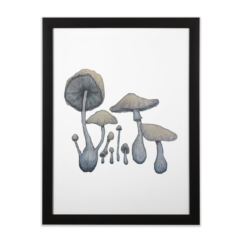 Mushrooms Home Framed Fine Art Print by Thistleroot's Artist Shop