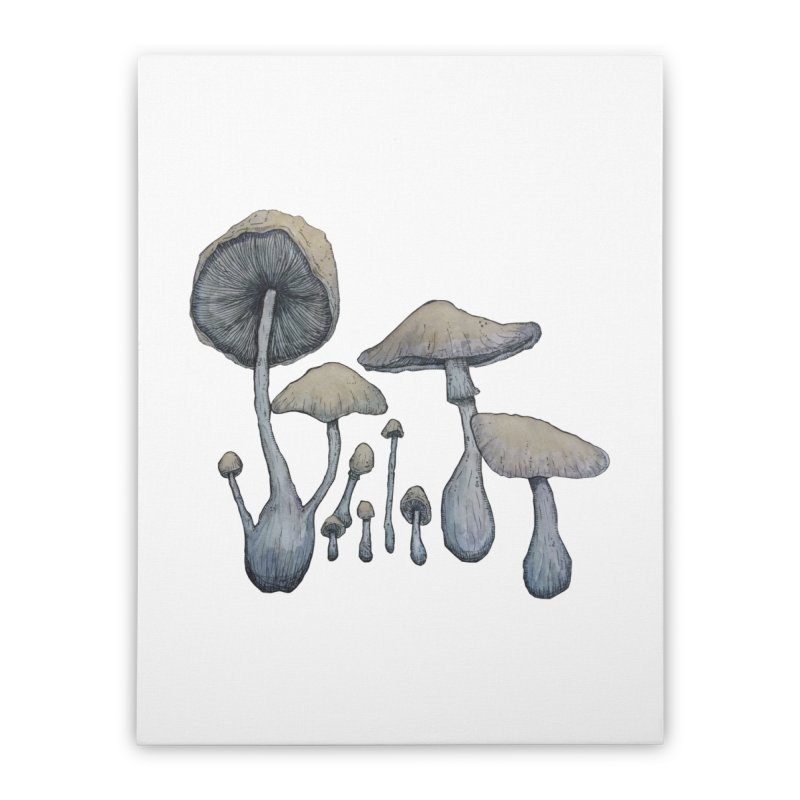 Mushrooms Home Stretched Canvas by Thistleroot's Artist Shop