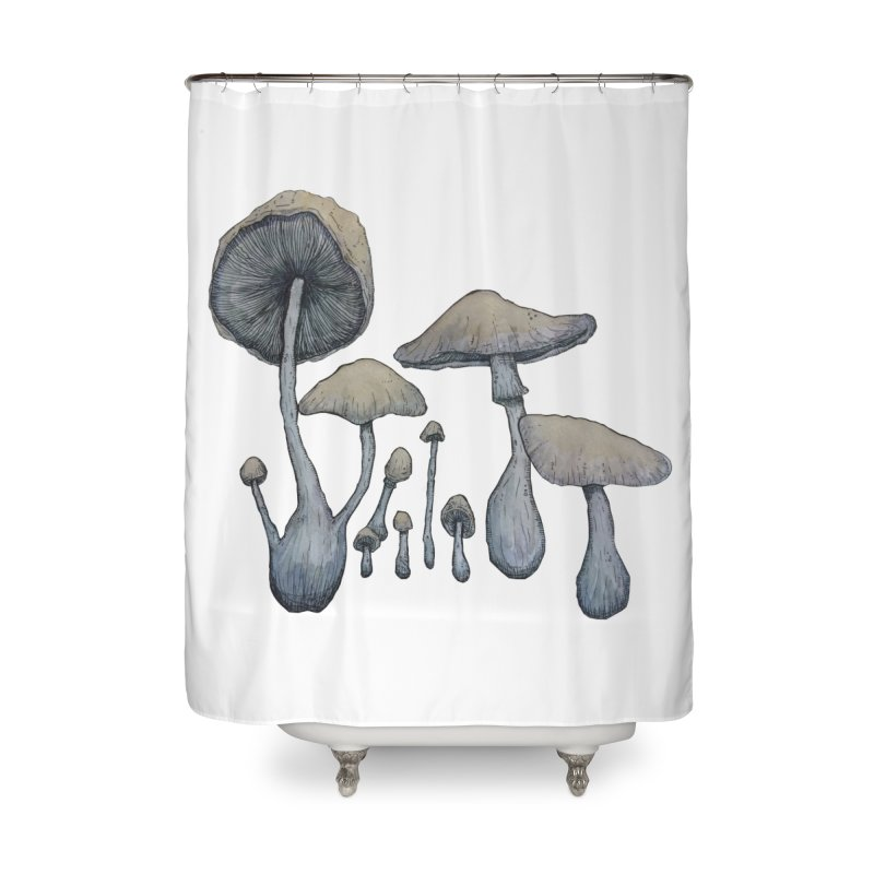 Mushrooms Home Shower Curtain by Thistleroot's Artist Shop