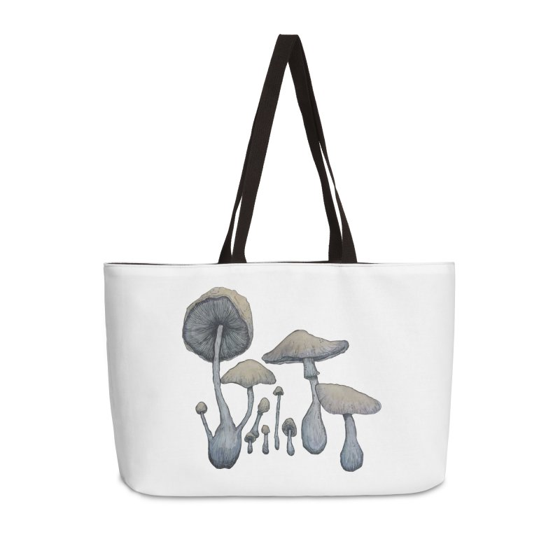 Mushrooms Accessories Weekender Bag Bag by Thistleroot's Artist Shop