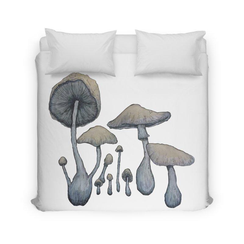Mushrooms Home Duvet by Thistleroot's Artist Shop
