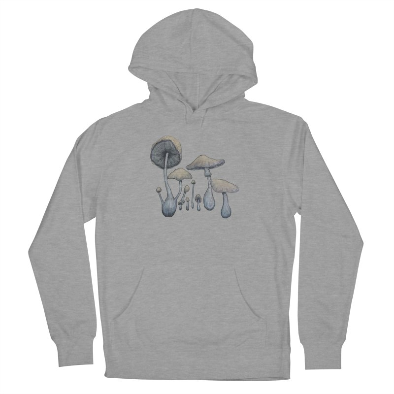 Mushrooms Men's French Terry Pullover Hoody by Thistleroot's Artist Shop