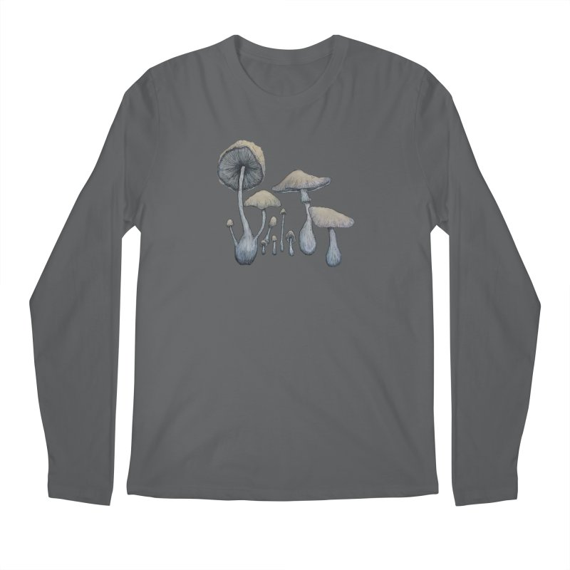 Mushrooms Men's Regular Longsleeve T-Shirt by Thistleroot's Artist Shop