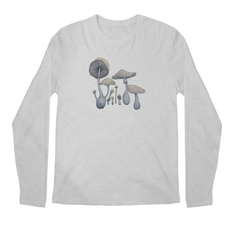 Mushrooms Men's Longsleeve T-Shirt by Thistleroot's Artist Shop