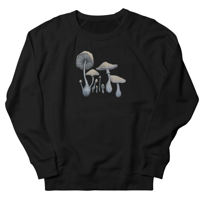 Mushrooms Men's French Terry Sweatshirt by Thistleroot's Artist Shop