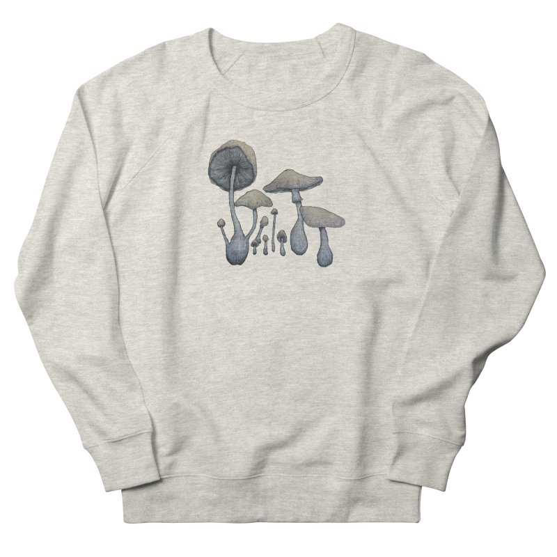 Mushrooms Men's French Terry Sweatshirt by Thistleroot's Artist Shop