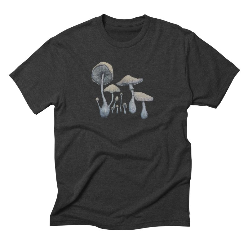 Mushrooms Men's Triblend T-Shirt by Thistleroot's Artist Shop