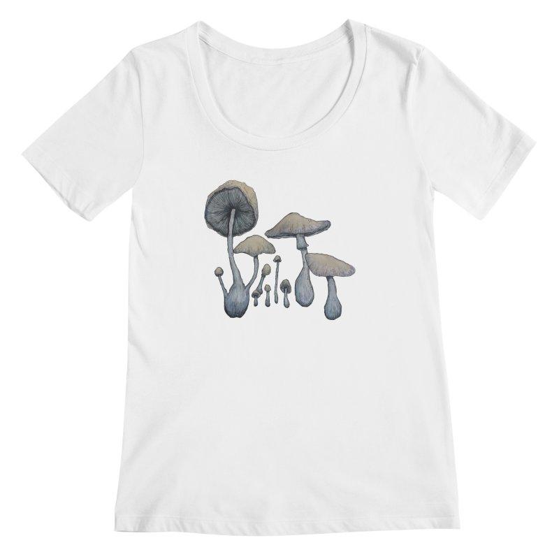 Mushrooms Women's Regular Scoop Neck by Thistleroot's Artist Shop