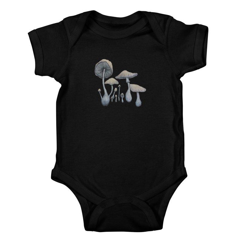 Mushrooms Kids Baby Bodysuit by Thistleroot's Artist Shop