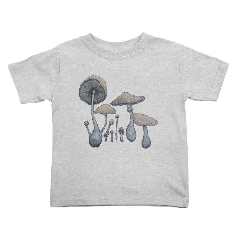 Mushrooms Kids Toddler T-Shirt by Thistleroot's Artist Shop
