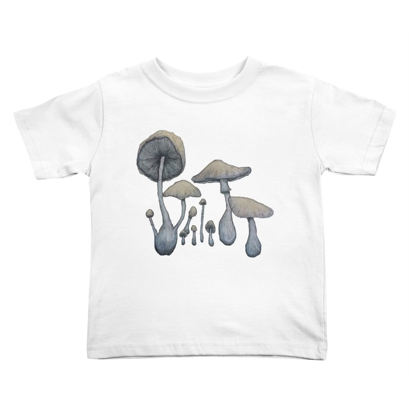Mushrooms Kids Toddler T-Shirt by Thistleroot's Artist Shop