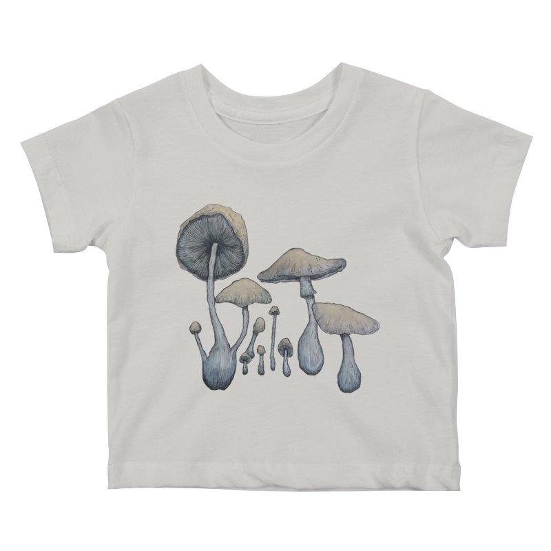 Mushrooms Kids Baby T-Shirt by Thistleroot's Artist Shop