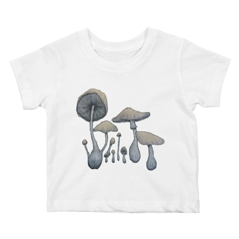 Mushrooms Kids Baby T-Shirt by Thistleroot's Artist Shop