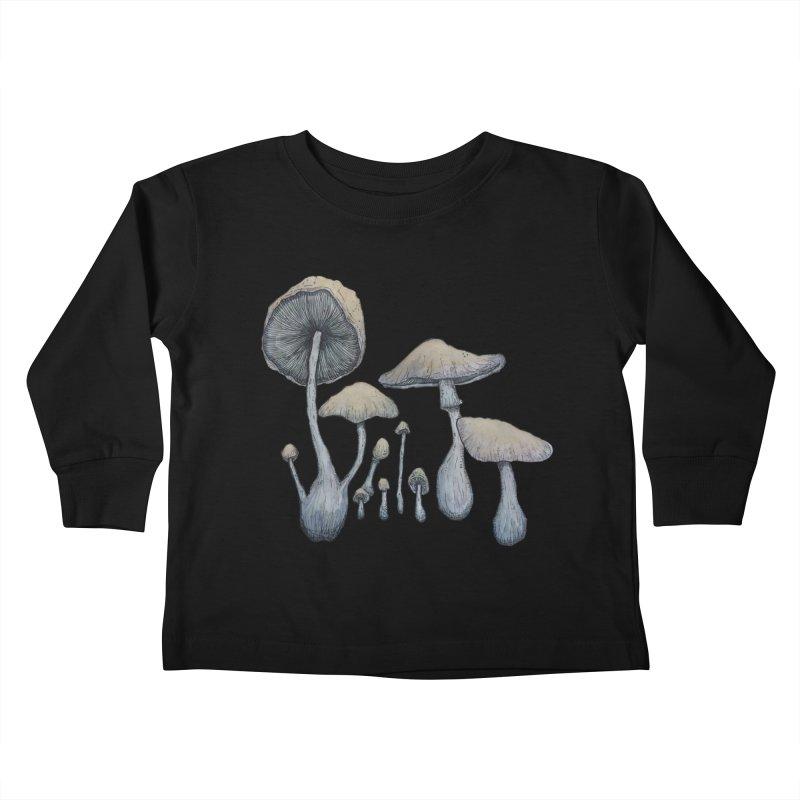Mushrooms Kids Toddler Longsleeve T-Shirt by Thistleroot's Artist Shop