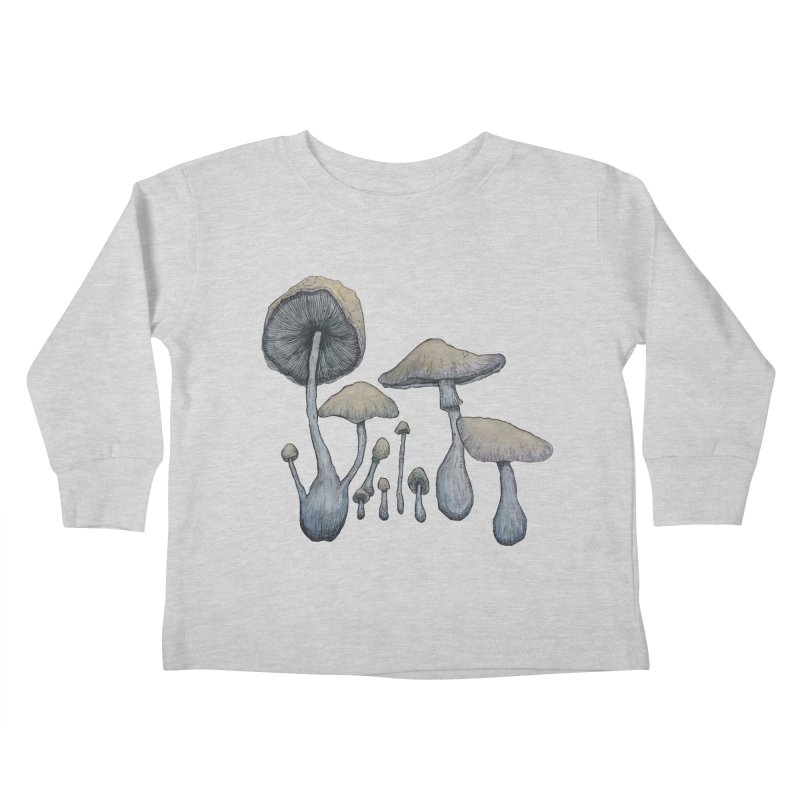 Mushrooms Kids Toddler Longsleeve T-Shirt by Thistleroot's Artist Shop