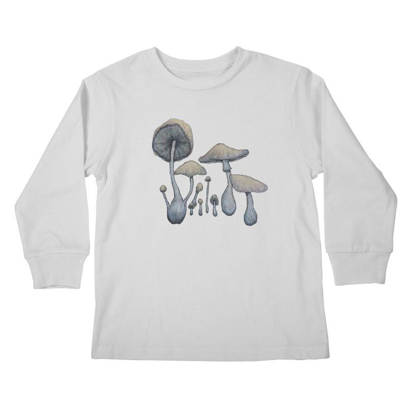 Mushrooms Kids Longsleeve T-Shirt by Thistleroot's Artist Shop