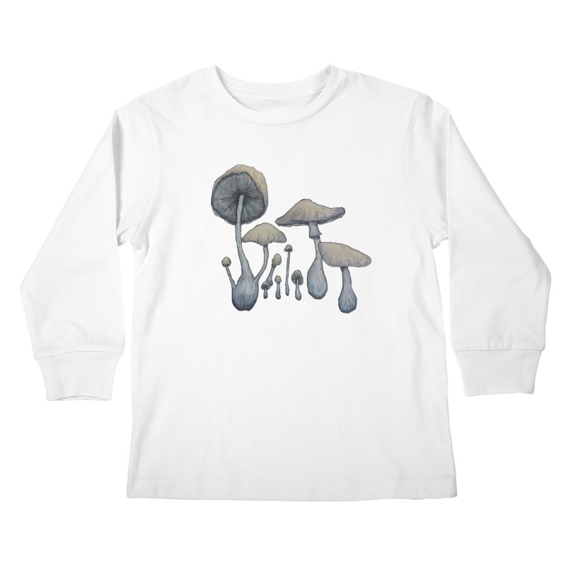 Mushrooms Kids Longsleeve T-Shirt by Thistleroot's Artist Shop
