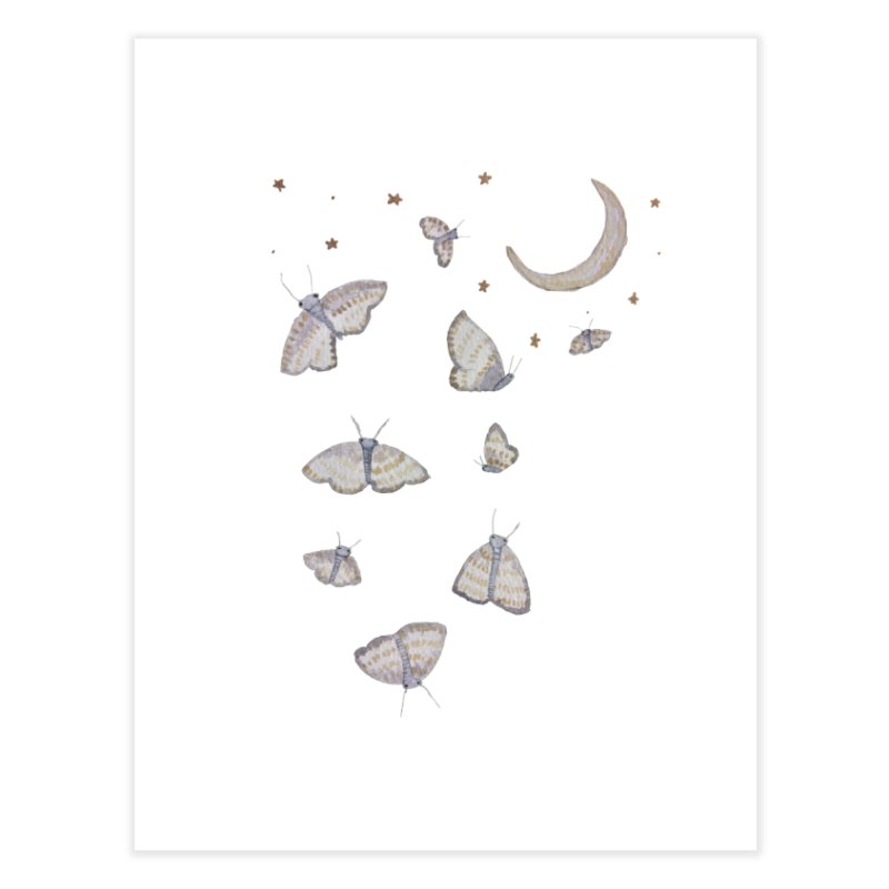 Moon Moths Home Fine Art Print by Thistleroot's Artist Shop