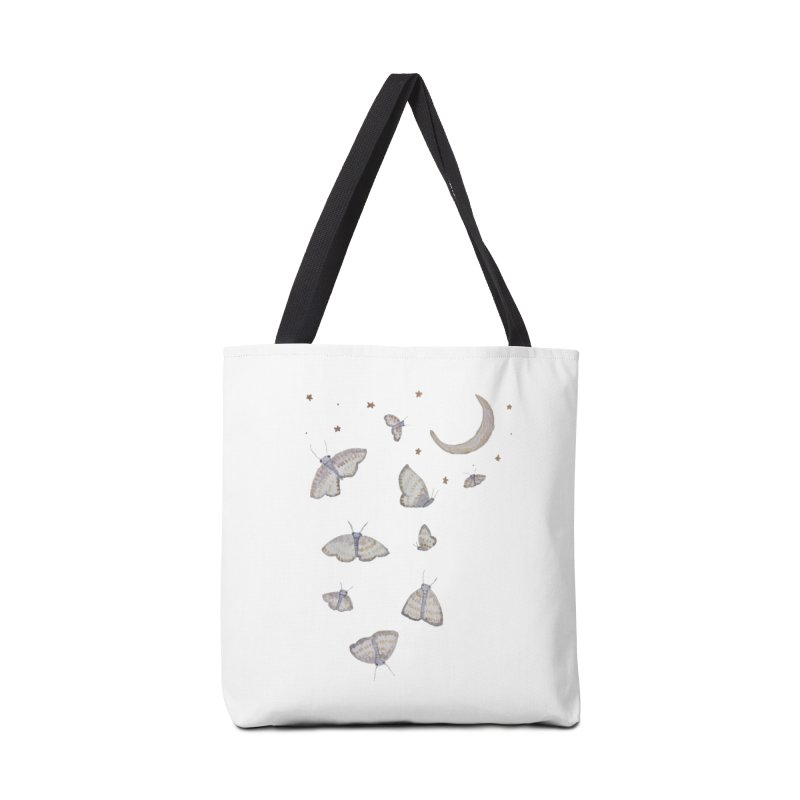 Moon Moths Accessories Bag by Thistleroot's Artist Shop