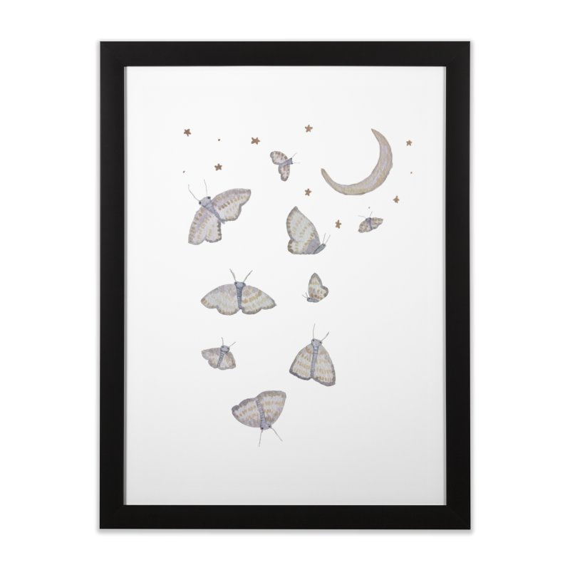 Moon Moths Home Framed Fine Art Print by Thistleroot's Artist Shop