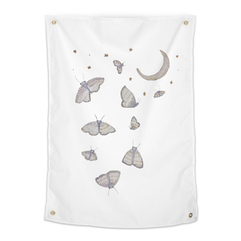 Moon Moths Home Tapestry by Thistleroot's Artist Shop
