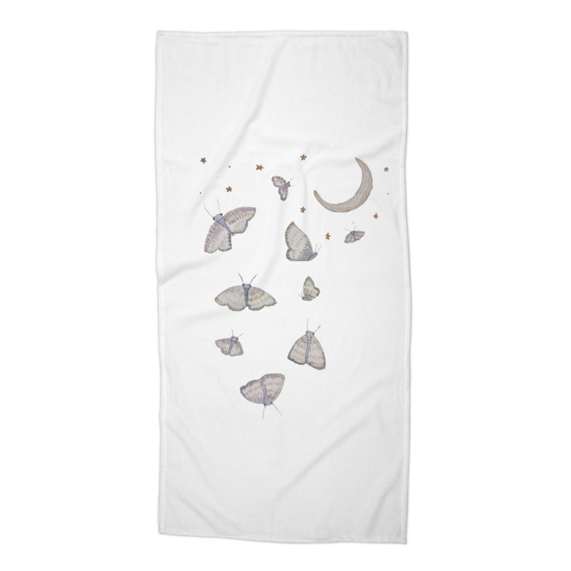 Moon Moths Accessories Beach Towel by Thistleroot's Artist Shop