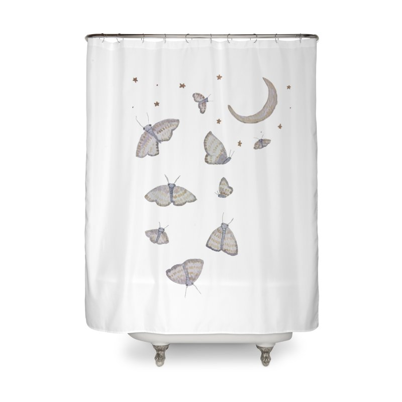 Moon Moths Home Shower Curtain by Thistleroot's Artist Shop