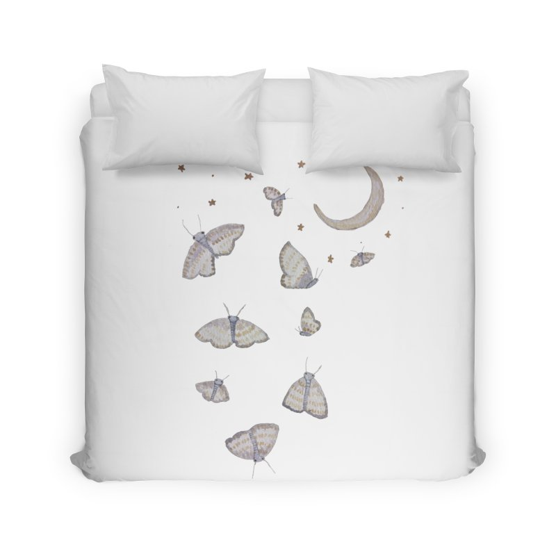Moon Moths Home Duvet by Thistleroot's Artist Shop