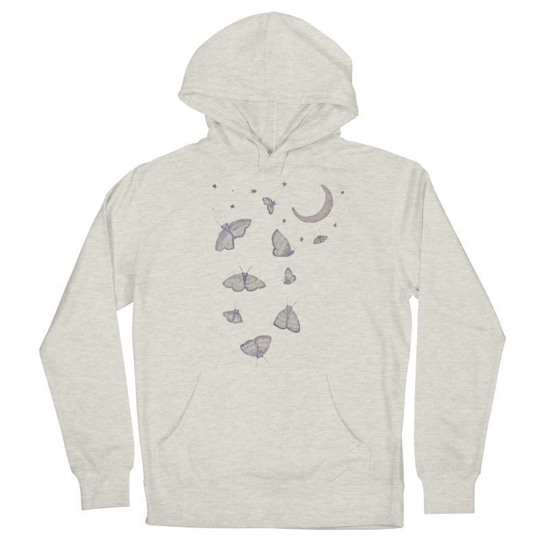 Moon Moths Women's Pullover Hoody by Thistleroot's Artist Shop