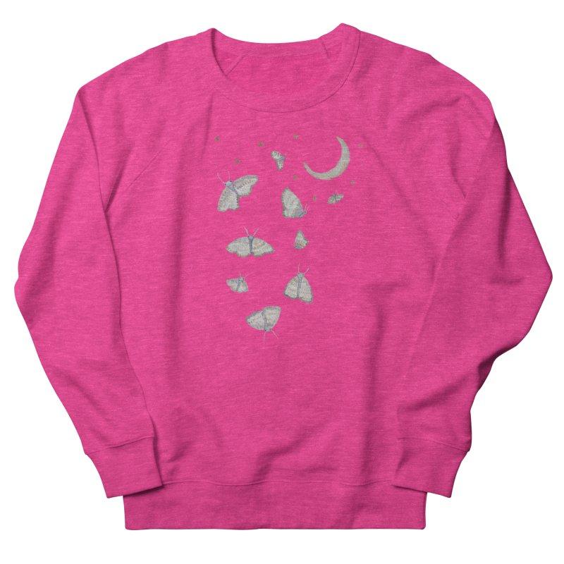 Moon Moths Women's French Terry Sweatshirt by Thistleroot's Artist Shop