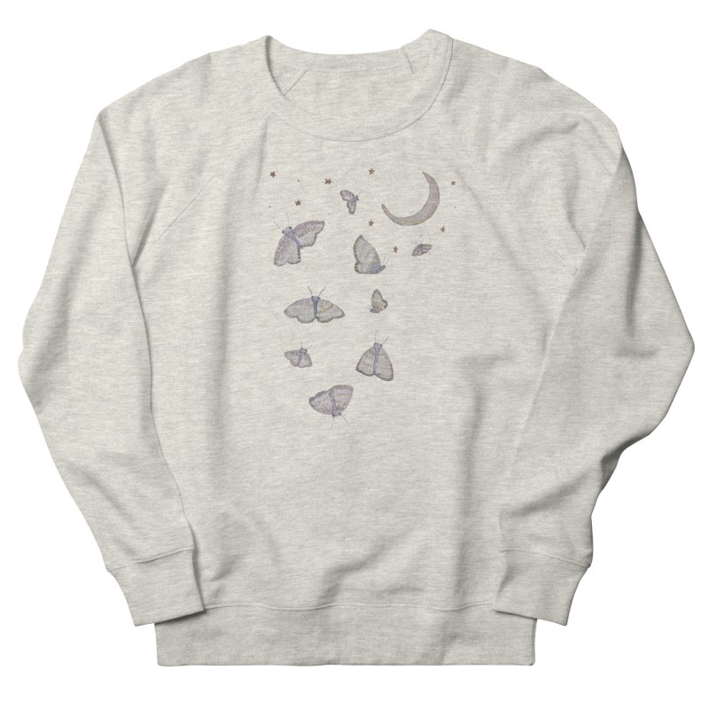 Moon Moths Women's French Terry Sweatshirt by Thistleroot's Artist Shop