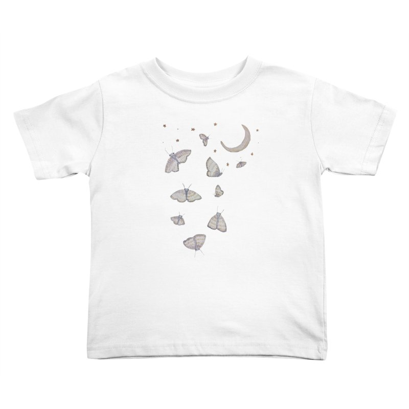 Moon Moths Kids Toddler T-Shirt by Thistleroot's Artist Shop