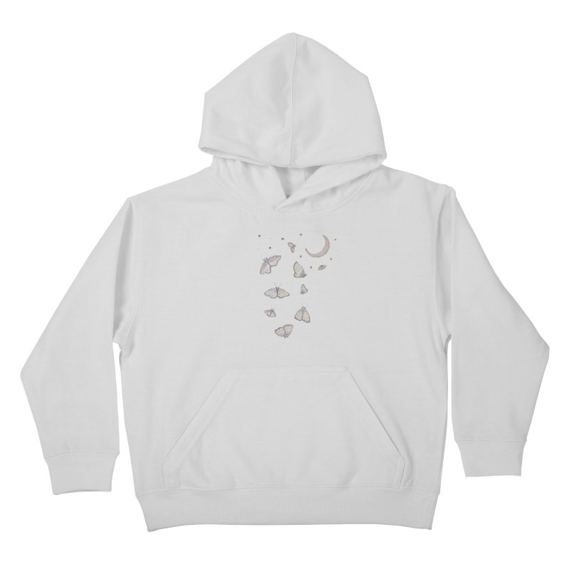 Moon Moths Kids Pullover Hoody by Thistleroot's Artist Shop