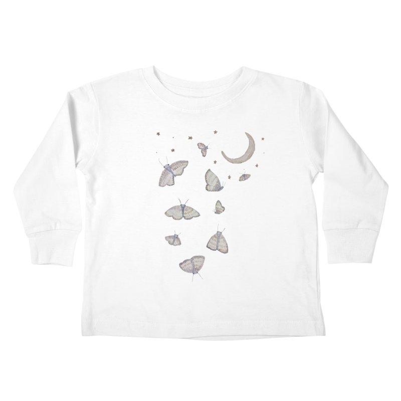 Moon Moths Kids Toddler Longsleeve T-Shirt by Thistleroot's Artist Shop