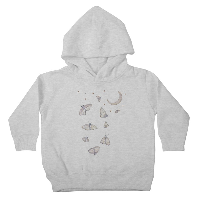 Moon Moths Kids Toddler Pullover Hoody by Thistleroot's Artist Shop