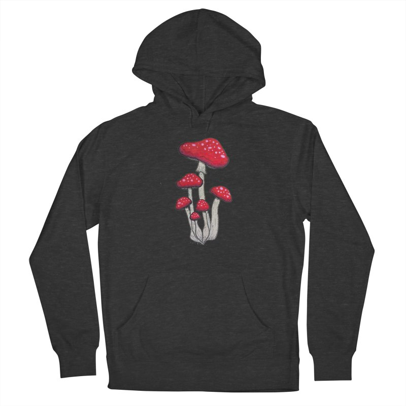 Champignon Rouge Women's Pullover Hoody by Thistleroot's Artist Shop