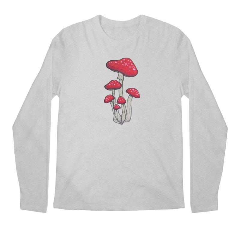 Champignon Rouge Men's Regular Longsleeve T-Shirt by Thistleroot's Artist Shop