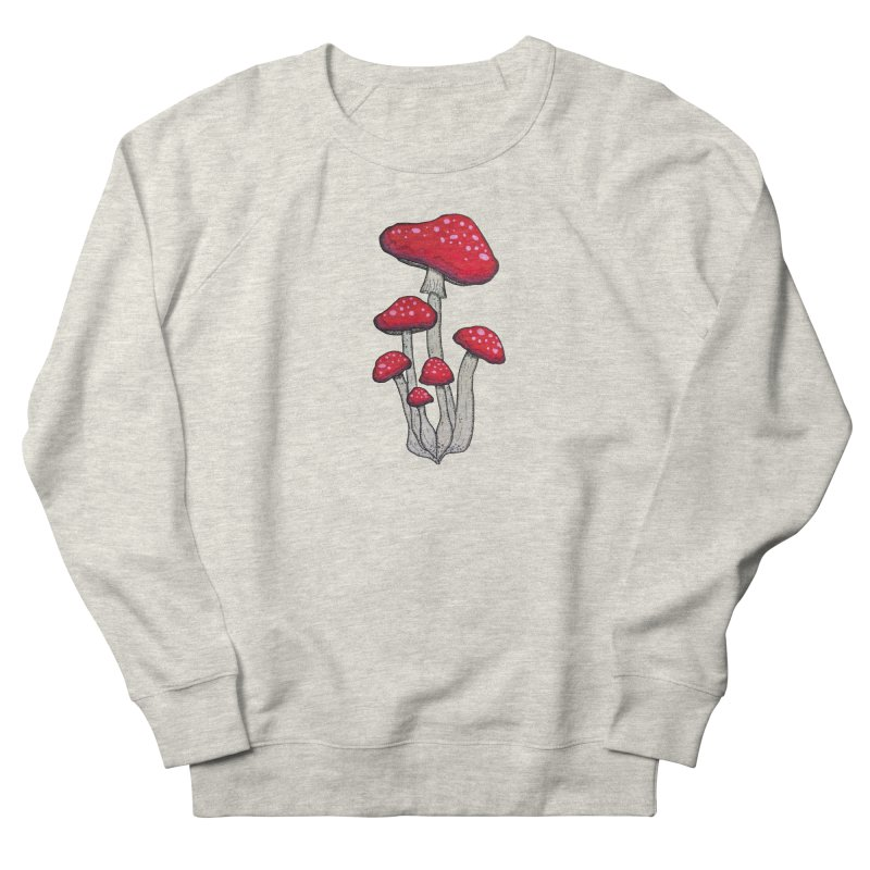 Champignon Rouge Women's French Terry Sweatshirt by Thistleroot's Artist Shop
