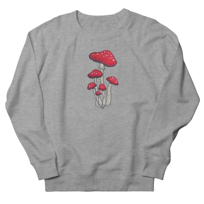 Champignon Rouge Men's French Terry Sweatshirt by Thistleroot's Artist Shop
