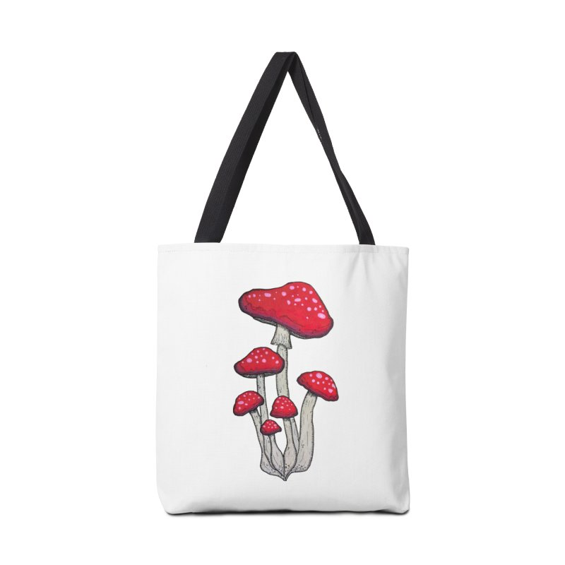 Champignon Rouge Accessories Bag by Thistleroot's Artist Shop