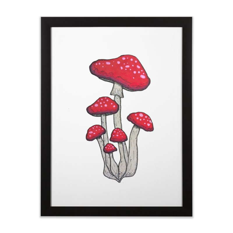 Champignon Rouge Home Framed Fine Art Print by Thistleroot's Artist Shop