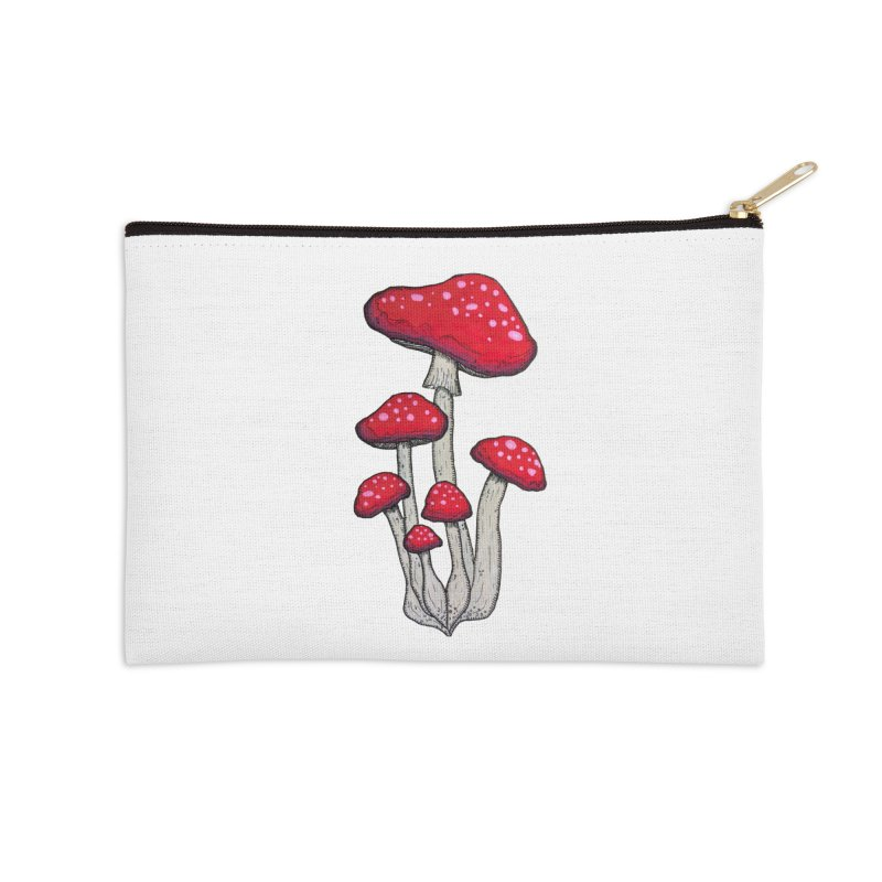 Champignon Rouge Accessories Zip Pouch by Thistleroot's Artist Shop