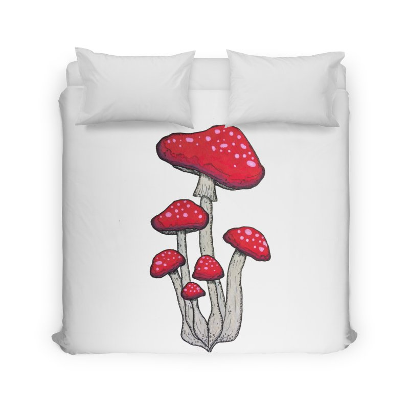 Champignon Rouge Home Duvet by Thistleroot's Artist Shop